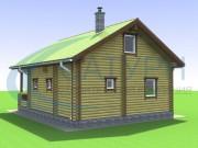 Проект Дом-баня Волга - Фасады