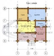 Проект Дядя Ваня - План 1 этажа