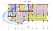 Проект Дом-баня Вербена - План 1 этажа