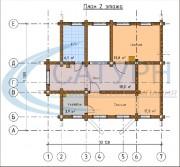Проект Дом-баня Вербена - План 2 этажа