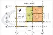 Проект Дом-баня Ладога - План 2 этажа