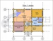 Проект Дом-баня Ладога - План 1 этажа
