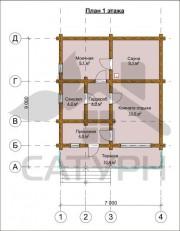 Проект Модерн - План 1 этажа