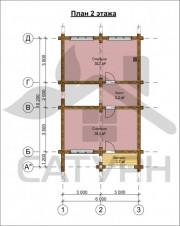 Проект Гурон - План 2 этажа