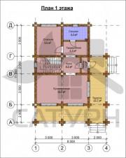 Проект Гурон - План 1 этажа