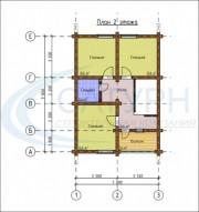 Проект Шале №2 - План 2 этажа
