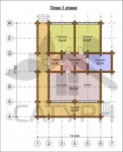 Проект Памир - План 1 этажа