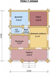 Проект Комфорт - План 1 этажа