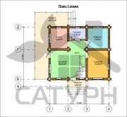 Проект Чешир - План 1 этажа