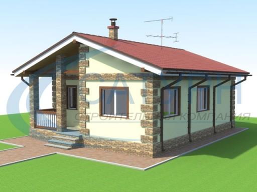 нижнее проект маленького дома из блоков сегодняшний день