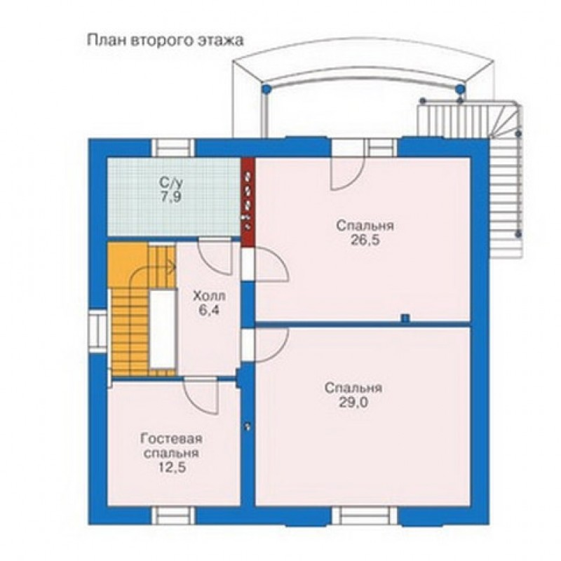 планировка второго этажа фото